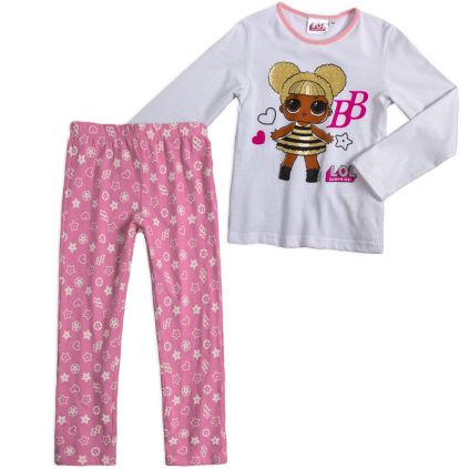 Dievčenské pyžamo L.O.L.SURPRISE BB biele