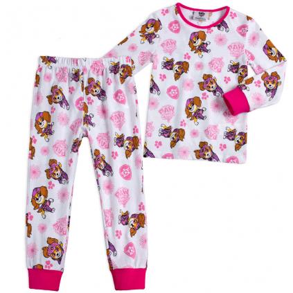 Detské pyžamo PAW PATROL SKYE biele