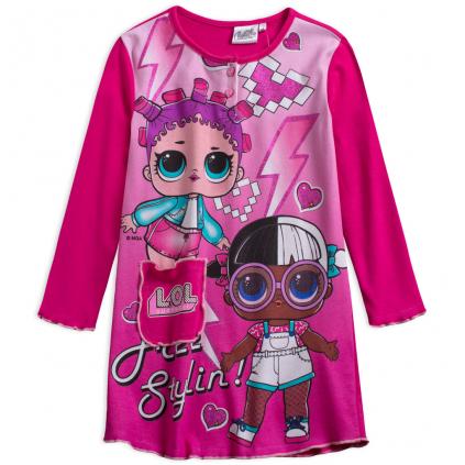 Dievčenská nočná košeľa L.O.L SURPRISE FREE STYLING ružová