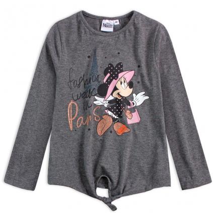 Dievčenské tričko DISNEY MINNIE PARIS šedé
