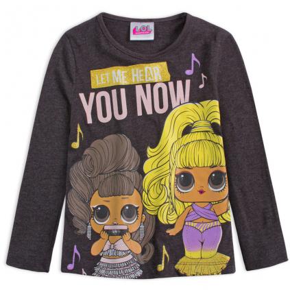 Dievčenské tričko L.O.L.SURPRISE HEAR šedé
