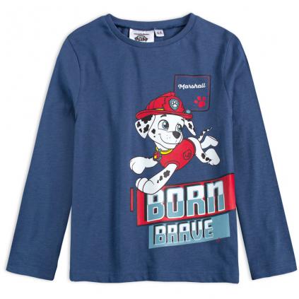 Chlapčenské tričko PAW PATROL MARSHALL modré