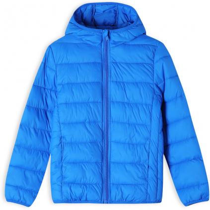 Detská ľahká prešívaná bunda GLO STORY modrá kráľovská