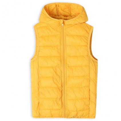 Detská ľahká prešívaná vesta GLO STORY žltá