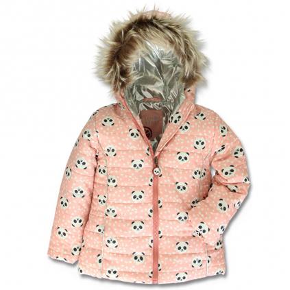 Dievčenská zimná bunda LEMON BERET PANDY ružová