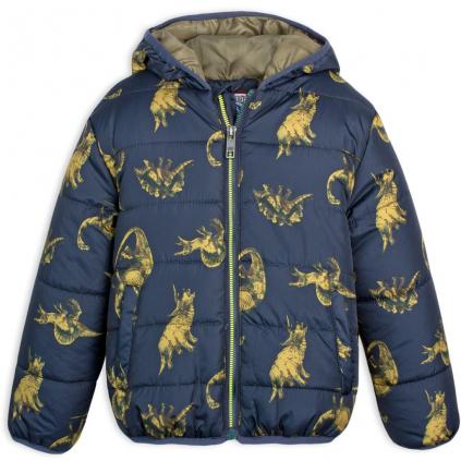 Chlapčenská bunda LEMON BERET DINOSAURUS tmavo modrá