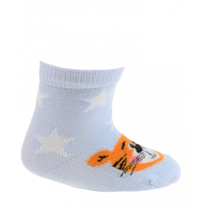 Dojčenské vzorované ponožky WOLA TIGER modré
