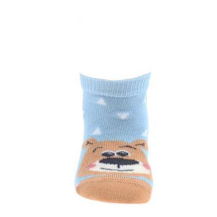Chlapčenské dojčenské ponožky WOLA MEDVEDÍK modré