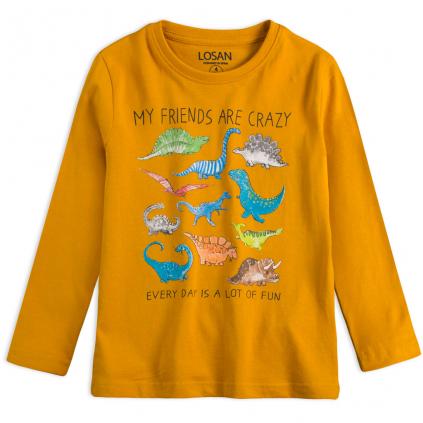 Chlapčenské tričko LOSAN DINOSAURI žlté