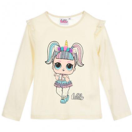 Dievčenské tričko L.O.L.SURPRISE UNICORN krémové