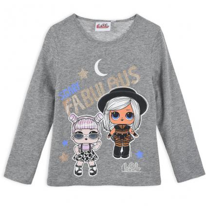 Dievčenské tričko L.O.L.SURPRISE FABULOUS šedé