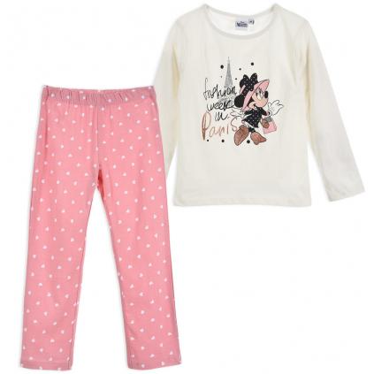 Dievčenské pyžamo DISNEY MINNIE PARIS biele