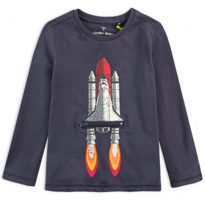 Chlapčenské tričko z BIO bavlny LEMON BERET RAKETA modré