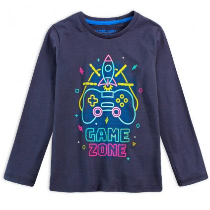 Chlapčenské tričko z BIO bavlny LEMON BERET GAME ZONE modré