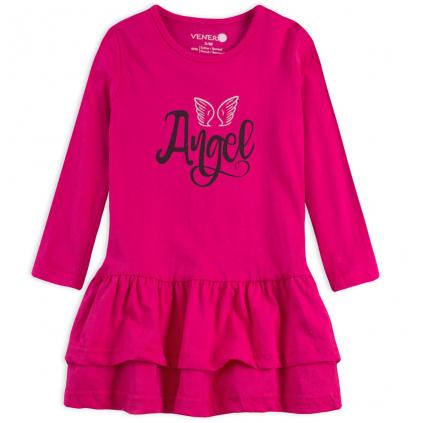 Dievčenské šaty VENERE ANGEL ružové