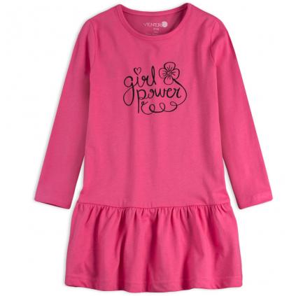 Dievčenské šaty VENERE GIRL POWER ružové
