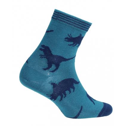 Chlapčenské ponožky WOLA DINOSAURI zelené