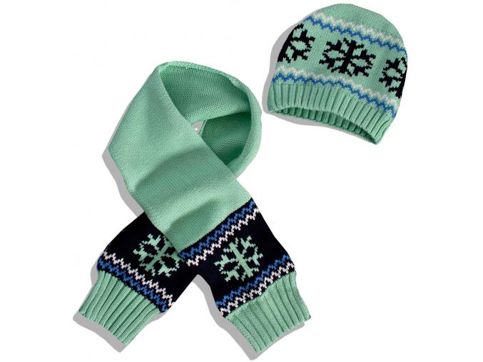 Detská čiapka a šál