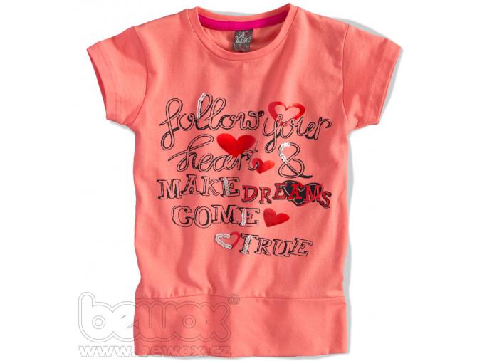 Dievčenské tričko s krátkym rukávom GIRLSTAR oranžové