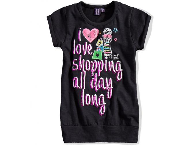 Dievčenské tričko s krátkym rukávom PEBBLESTONE