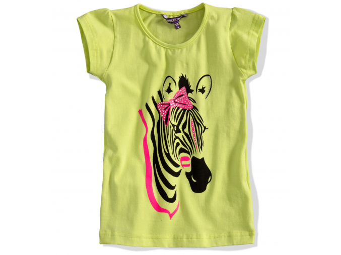Dievčenské tričko PEBBLESTONE, Zebra zelené