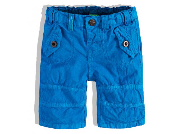 Chlapčenské šortky s falošnými vreckami PEBBLESTONE modré