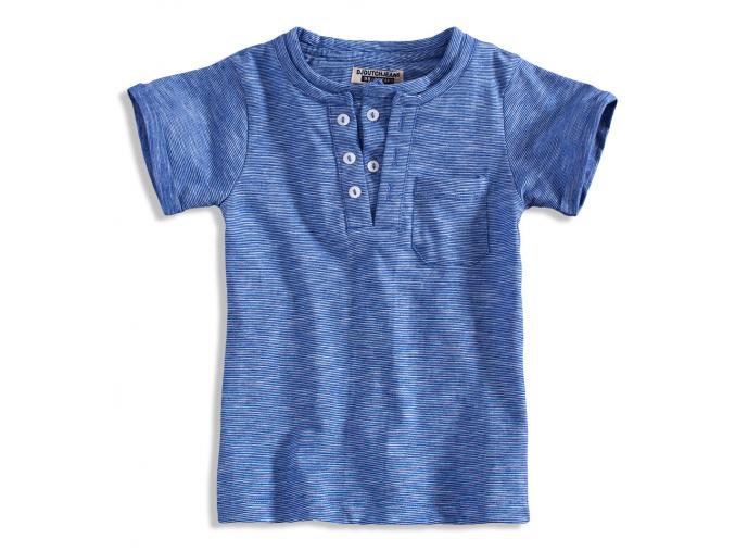 Detské tričko s efektom dvojitého trička vo vsadke DIRKJE modré