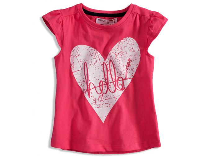 Detské tričko so srdiečkom MINOTI riviera ružové