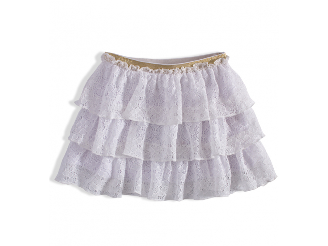 Dievčenská čipková sukňa MINOTI RAINFOREST