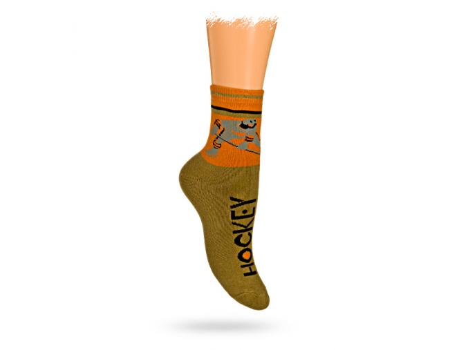 Detské termo ponožky, vzor HOKEJISTA
