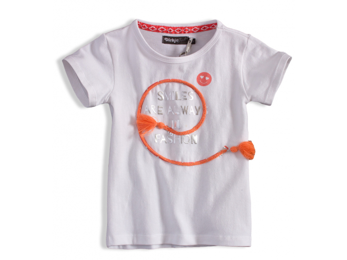 Dievčenské tričko DIRKJE SMILES