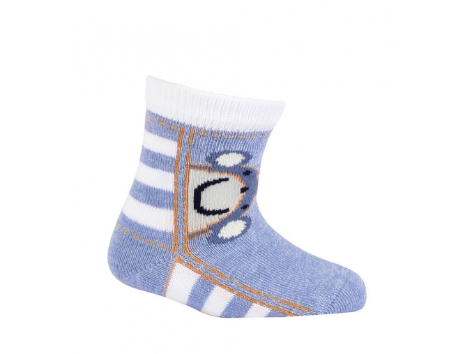 Chlapčenské vzorované ponožky GATTA OPIČKA modré