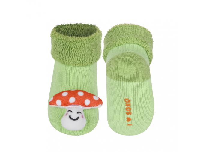Dojčenské ponožky s hrkálkou SOXO MUCHOTRÁVKA zelené