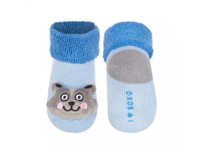 Dojčenské ponožky s hrkálkou SOXO MAČIČKA modré