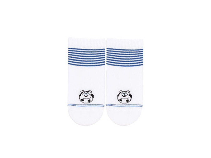 Dojčenské ponožky WOLA LOPTA biele