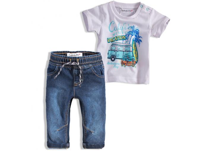 Chlapčenská súprava BABALUNO OCEANSIDE biele tričko