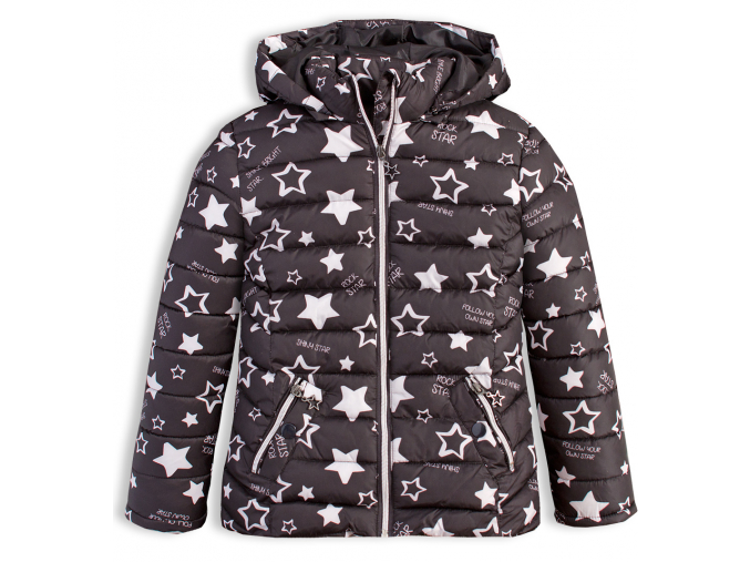 Dievčenská zimná bunda LOSAN SHINY STAR čierna