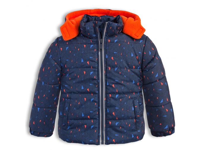 Chlapčenská zimná bunda LEMON BERET GEOMETRIC tmavo modrá