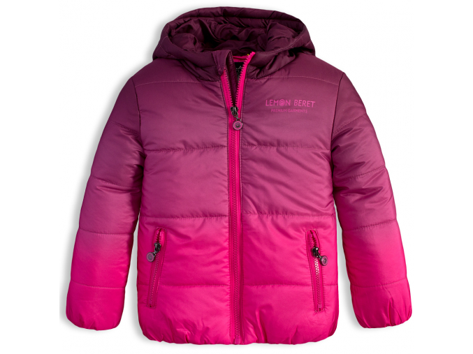 Dievčenská zimná bunda LEMON BERET RAINBOW ružová