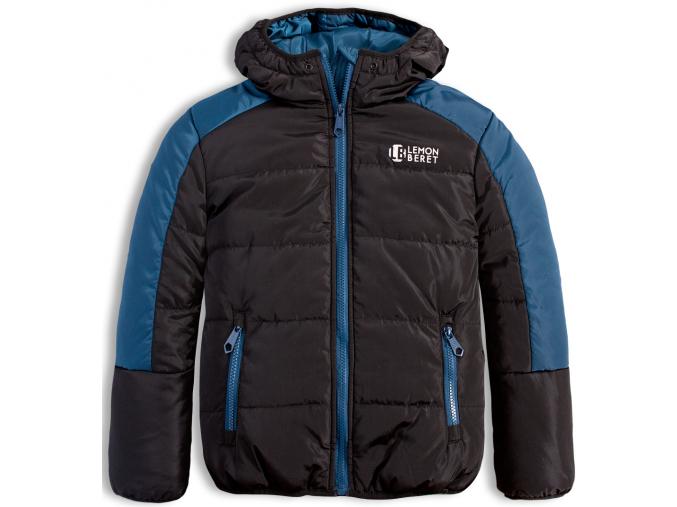 Chlapčenská zimná bunda LEMON BERET EARTH čierna
