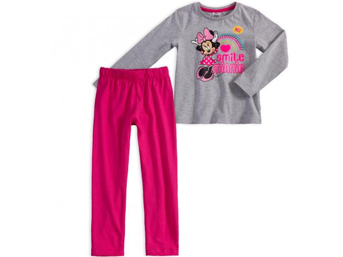 Dievčenské pyžamo DISNEY MINNIE SMILE šedé