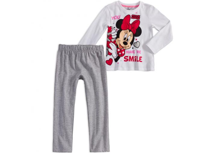 Dievčenské pyžamo DISNEY MINNIE SMILE biele
