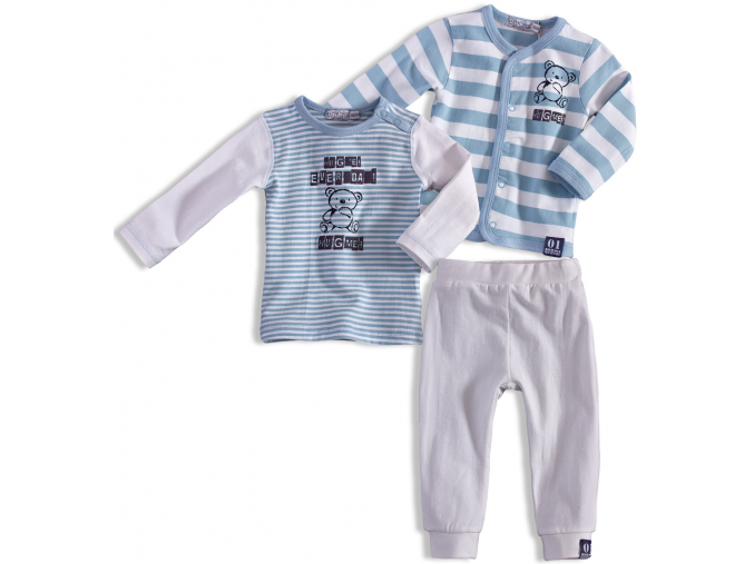 Dojčenská chlapčenská súprava  DIRKJE EVERY DAY biela