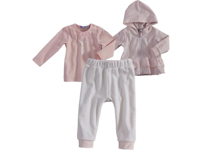 Dojčenská súprava pre dievčatá DIRKJE LILI biela