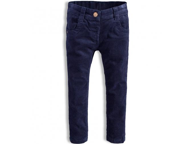 Dievčenské menčestrové nohavice  MINOTI HAPPY tmavo modré