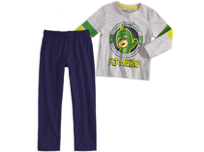 Chlapčenské pyžamo PJ MASKS GEKKO šedé