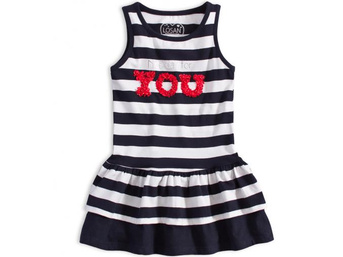 Dievčenské letné šaty LOSAN NICE DAY proužkované