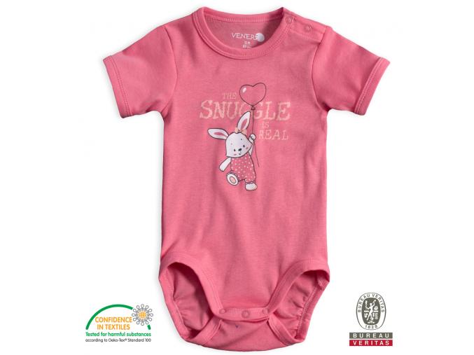 Dojčenské body VENERE ZAJAČIK ružové