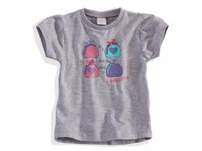 Dievčenské tričko s krátkym rukávom 'FABULOUS' DIRKJE sivé
