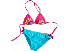 Dievčenské plavky 2-dielne, LOVE, CARODEL tyrkysové